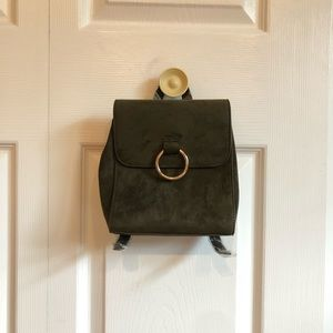 Mini olive green backpack NWT